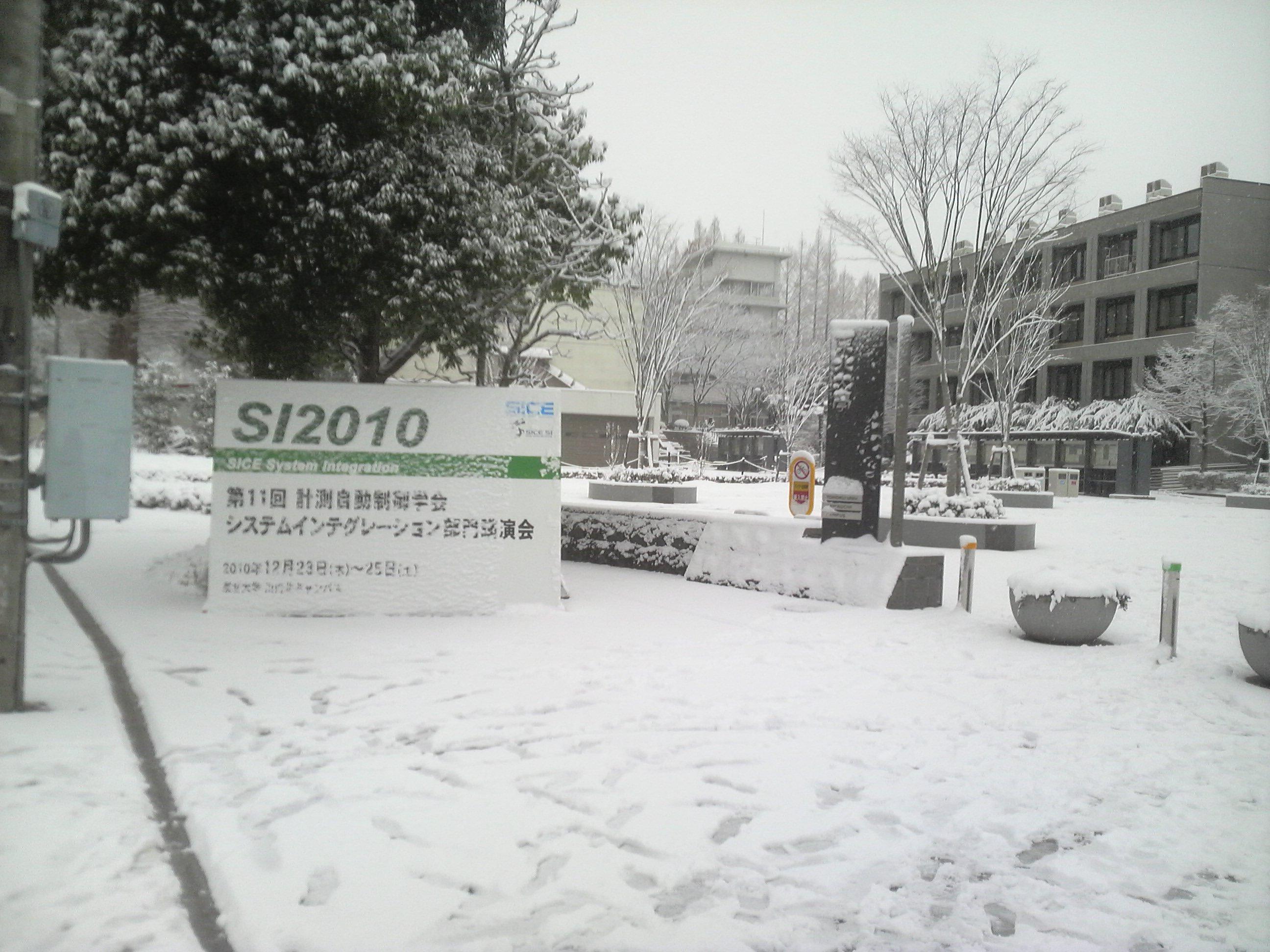 ホワイトクリスマスの学会会場